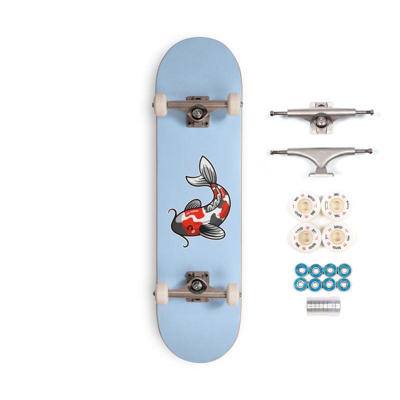 Kawaii Cute Japanese Koi Carp Fish Accessories Complete - Premium Skateboard by Flaming Imp's Artist Shop
