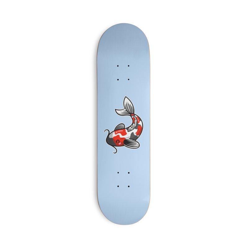 Kawaii Cute Japanese Koi Carp Fish Accessories Deck Only Skateboard by Flaming Imp's Artist Shop