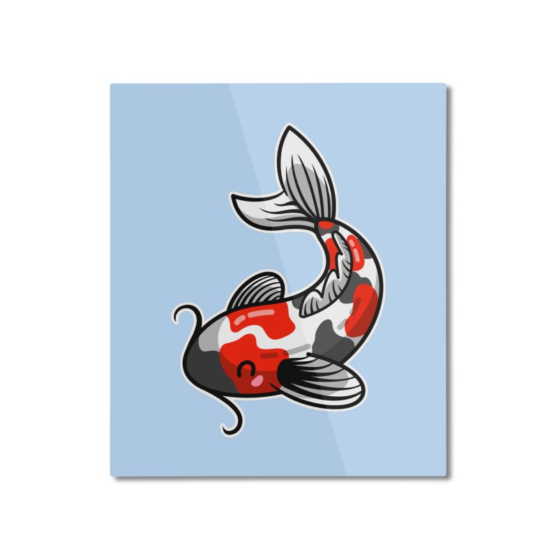 Kawaii Cute Japanese Koi Carp Fish Home Mounted Aluminum Print by Flaming Imp's Artist Shop