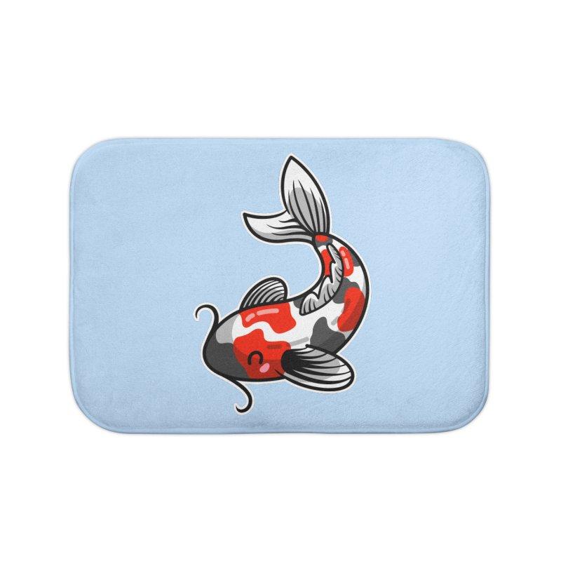 Kawaii Cute Japanese Koi Carp Fish Home Bath Mat by Flaming Imp's Artist Shop