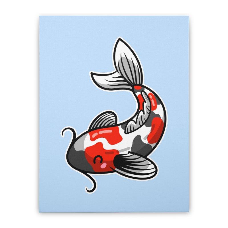 Kawaii Cute Japanese Koi Carp Fish Home Stretched Canvas by Flaming Imp's Artist Shop