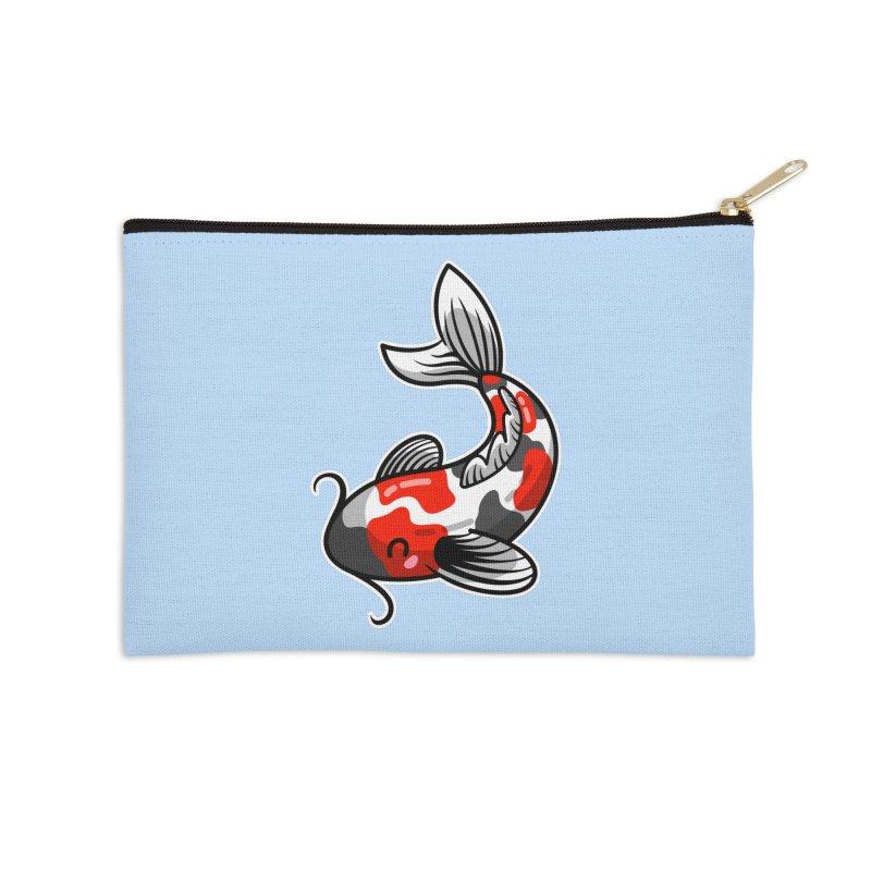 Kawaii Cute Japanese Koi Carp Fish Accessories Zip Pouch by Flaming Imp's Artist Shop