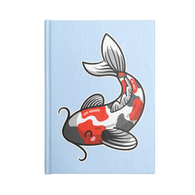 Kawaii Cute Japanese Koi Carp Fish Accessories Lined Journal Notebook by Flaming Imp's Artist Shop