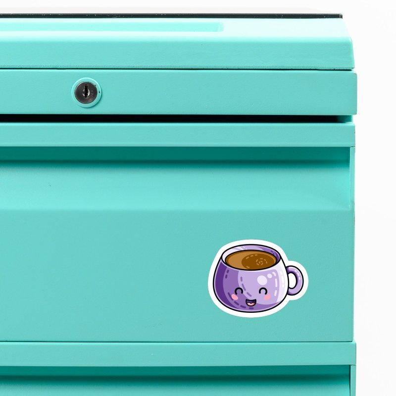 Kawaii Cute Coffee Accessories Magnet by Flaming Imp's Artist Shop