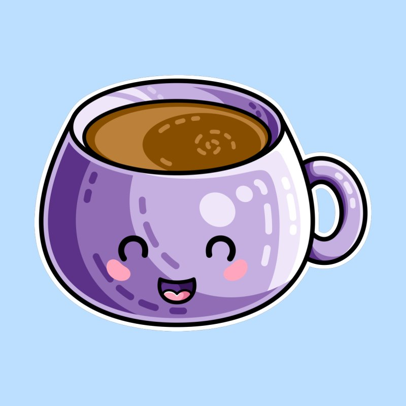 Kawaii Cute Coffee by Flaming Imp's Artist Shop