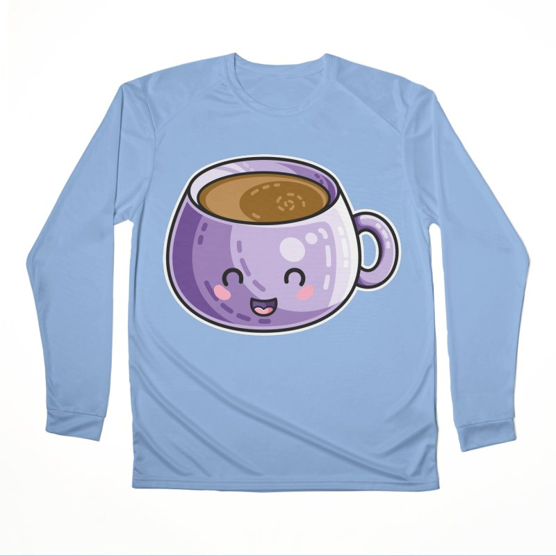 Kawaii Cute Coffee Men's Longsleeve T-Shirt by Flaming Imp's Artist Shop
