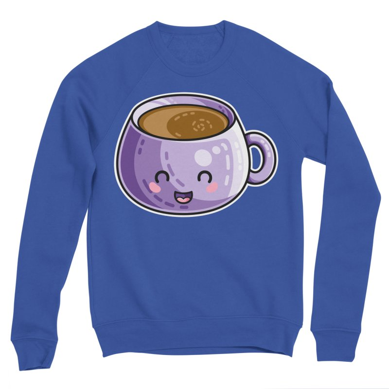 Kawaii Cute Coffee Men's Sponge Fleece Sweatshirt by Flaming Imp's Artist Shop