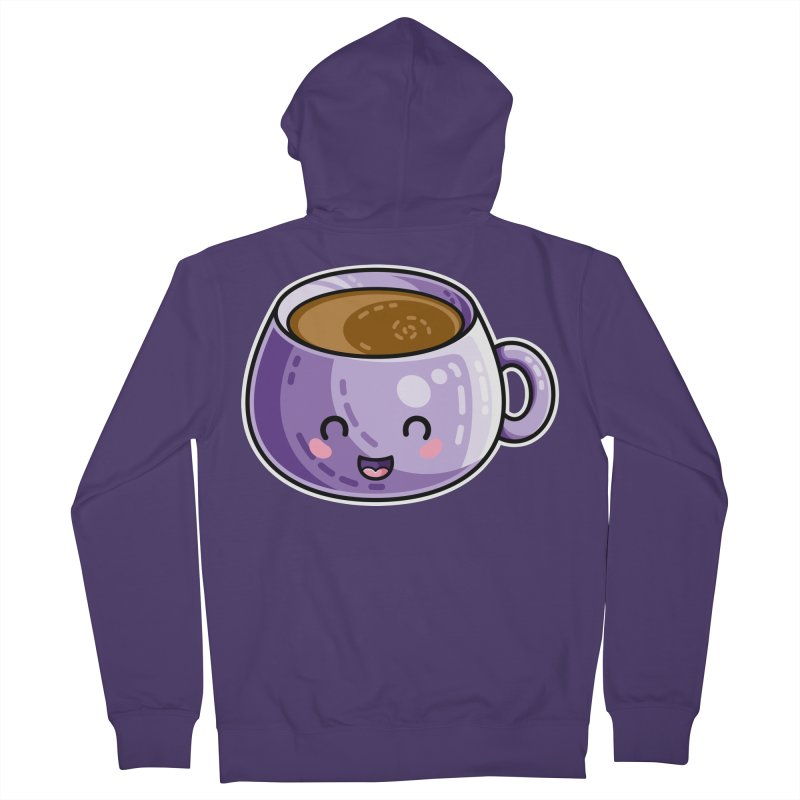 Kawaii Cute Coffee Women's French Terry Zip-Up Hoody by Flaming Imp's Artist Shop
