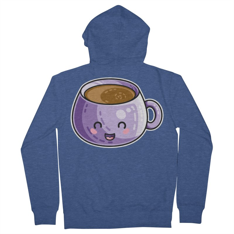 Kawaii Cute Coffee Men's French Terry Zip-Up Hoody by Flaming Imp's Artist Shop