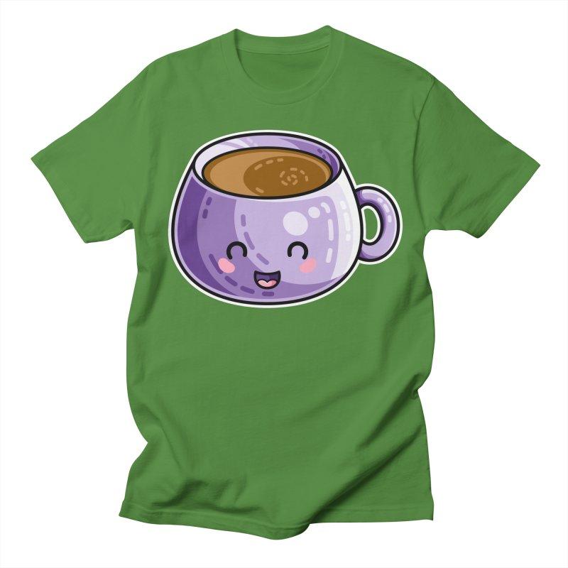 Kawaii Cute Coffee Women's Regular Unisex T-Shirt by Flaming Imp's Artist Shop