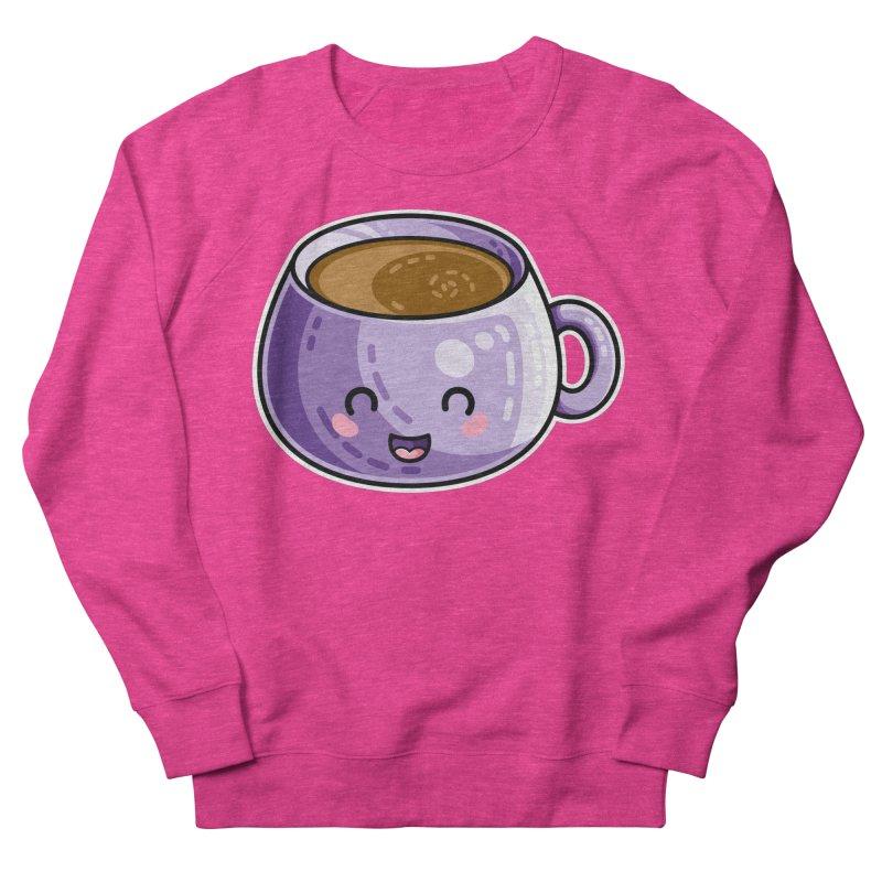 Kawaii Cute Coffee Men's French Terry Sweatshirt by Flaming Imp's Artist Shop