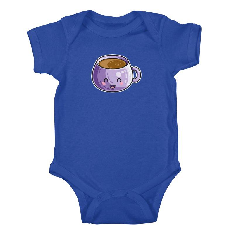 Kawaii Cute Coffee Kids Baby Bodysuit by Flaming Imp's Artist Shop