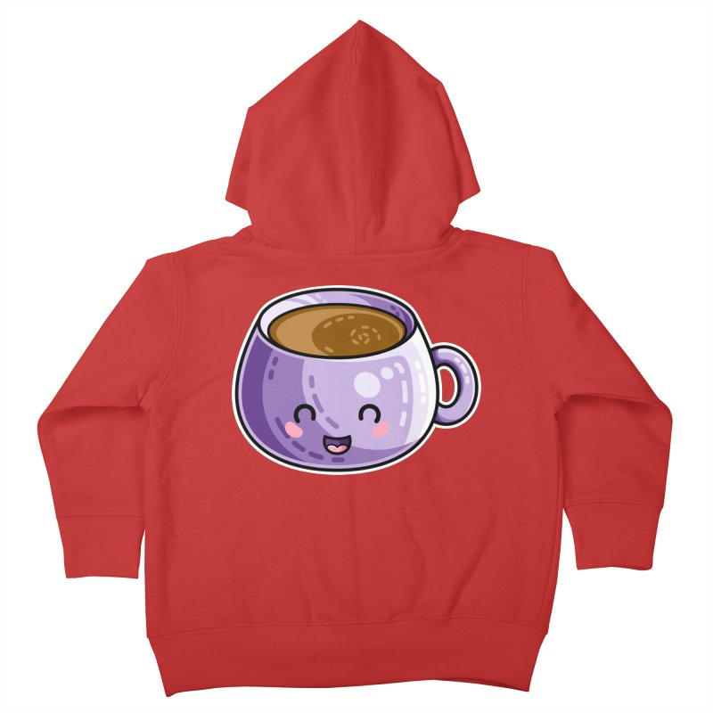 Kawaii Cute Coffee Kids Toddler Zip-Up Hoody by Flaming Imp's Artist Shop