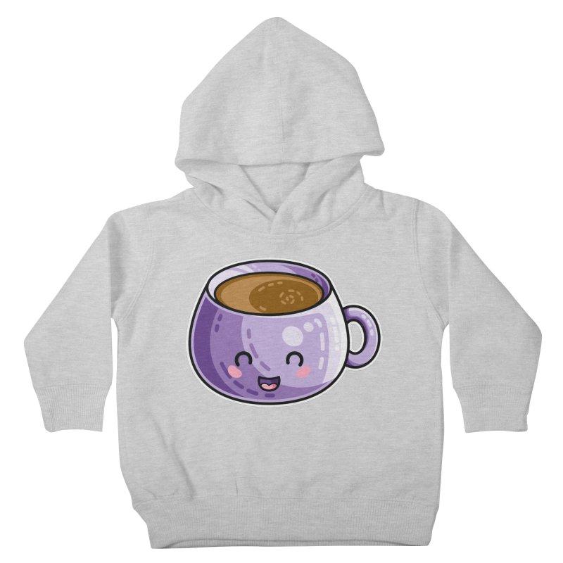 Kawaii Cute Coffee Kids Toddler Pullover Hoody by Flaming Imp's Artist Shop