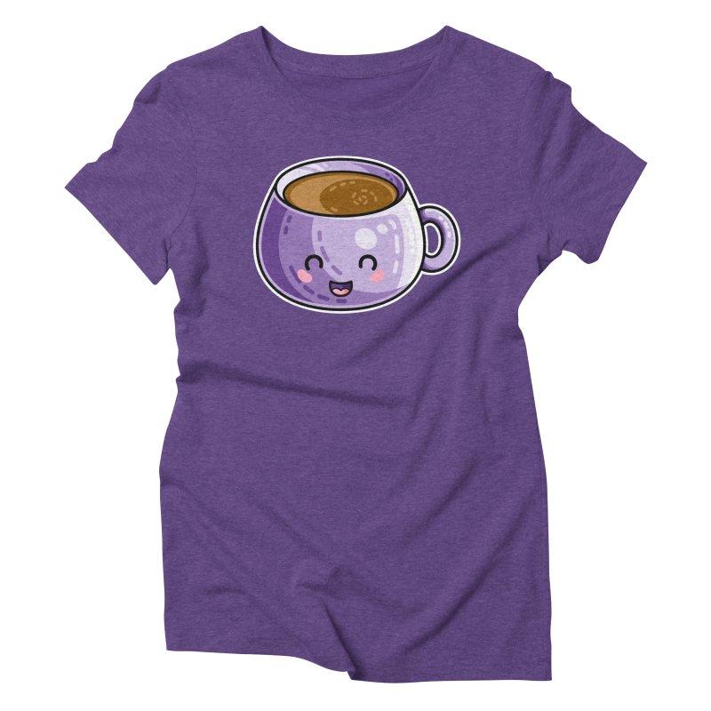 Kawaii Cute Coffee Women's Triblend T-Shirt by Flaming Imp's Artist Shop