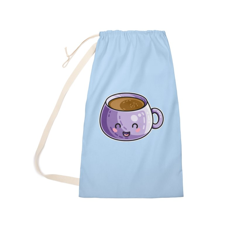 Kawaii Cute Coffee Accessories Laundry Bag Bag by Flaming Imp's Artist Shop