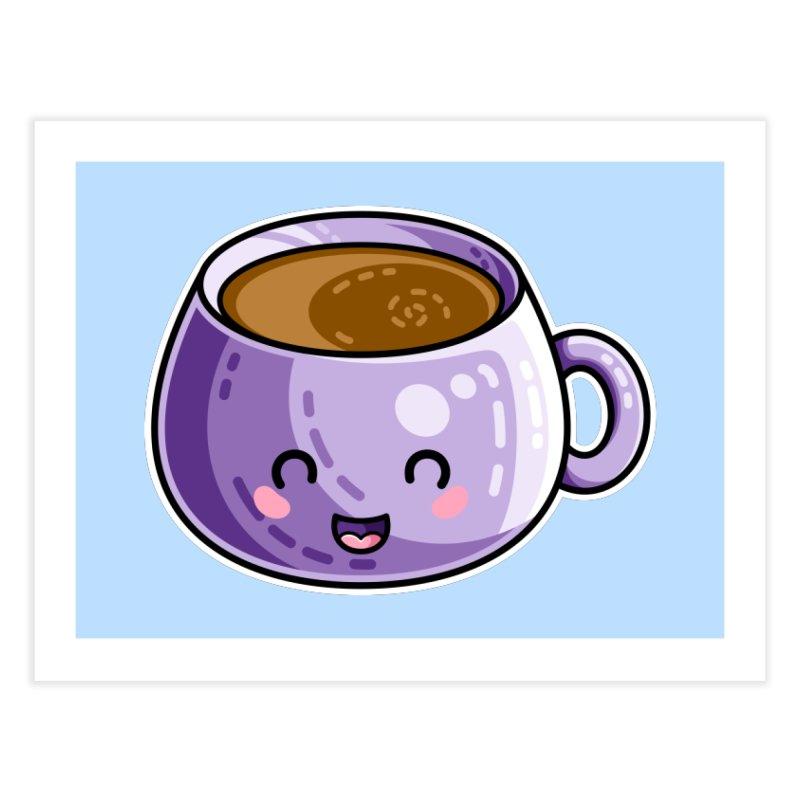 Kawaii Cute Coffee Home Fine Art Print by Flaming Imp's Artist Shop