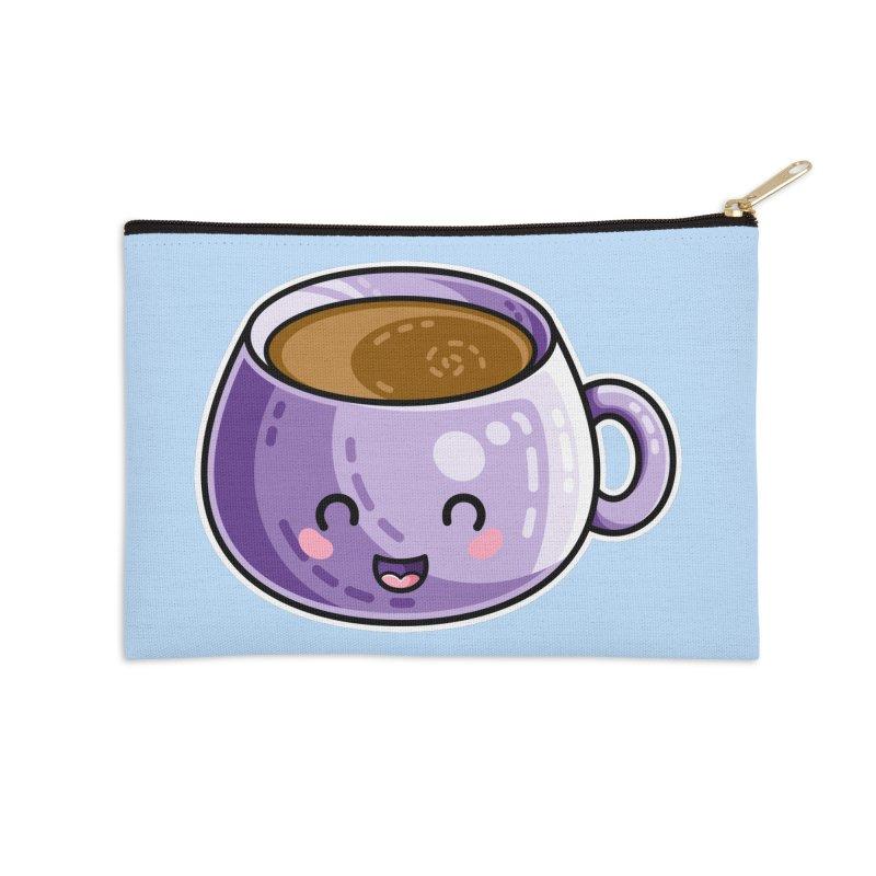 Kawaii Cute Coffee Accessories Zip Pouch by Flaming Imp's Artist Shop