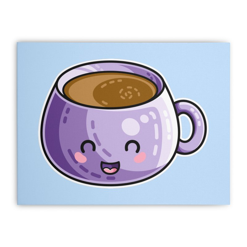 Kawaii Cute Coffee Home Stretched Canvas by Flaming Imp's Artist Shop