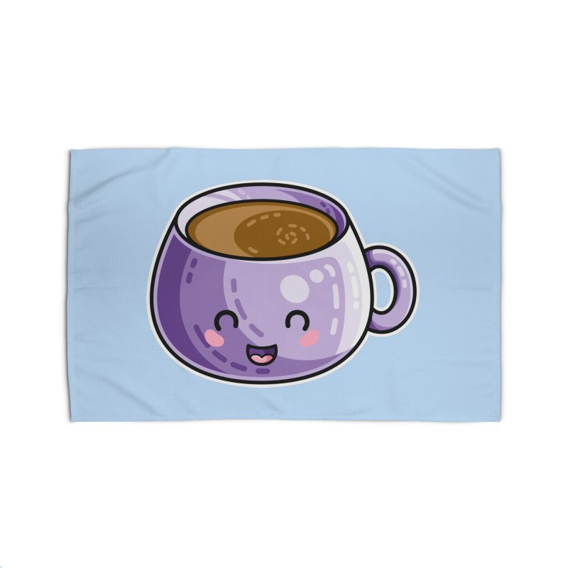 Kawaii Cute Coffee Home Rug by Flaming Imp's Artist Shop
