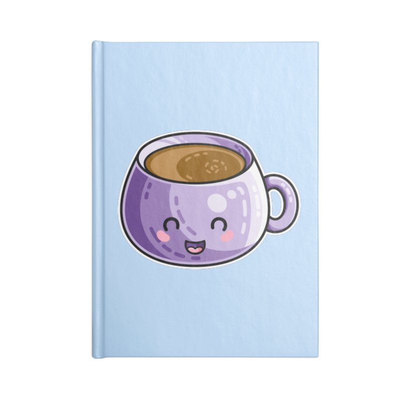 Kawaii Cute Coffee Accessories Lined Journal Notebook by Flaming Imp's Artist Shop