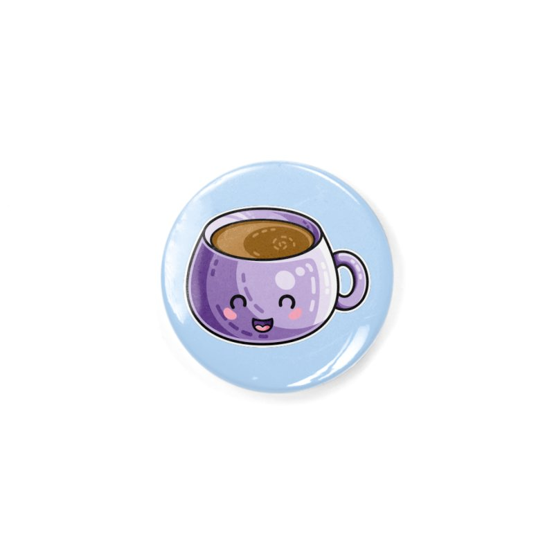 Kawaii Cute Coffee Accessories Button by Flaming Imp's Artist Shop