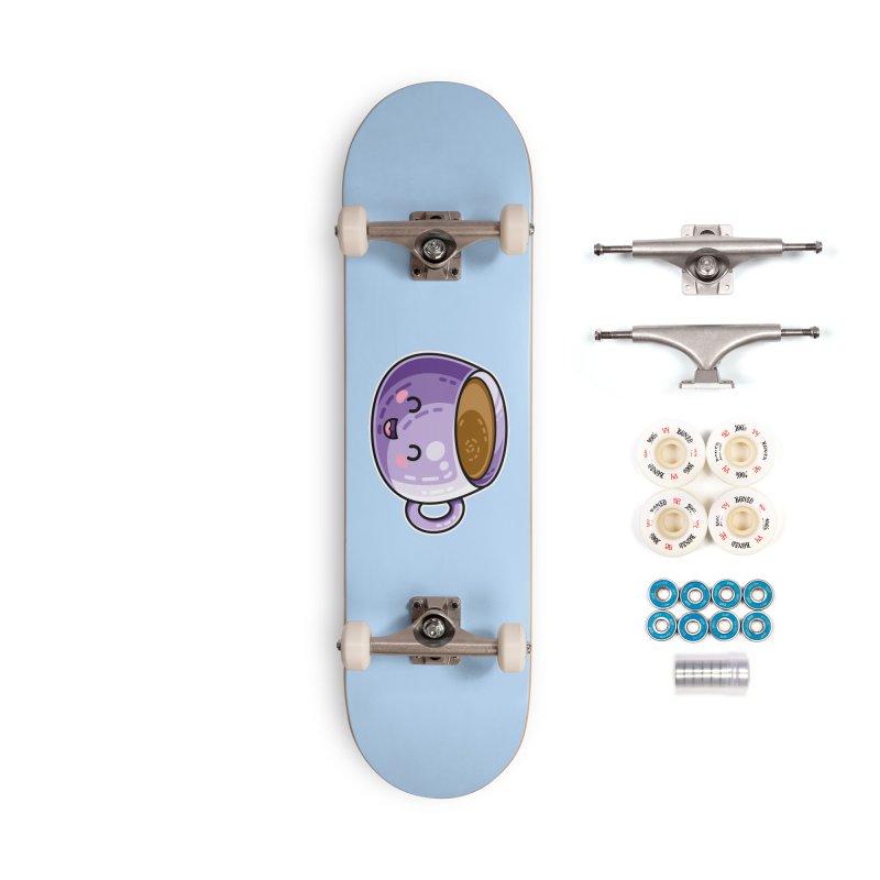 Kawaii Cute Coffee Accessories Complete - Premium Skateboard by Flaming Imp's Artist Shop