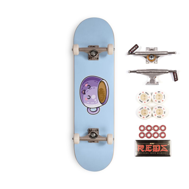 Kawaii Cute Coffee Accessories Complete - Pro Skateboard by Flaming Imp's Artist Shop