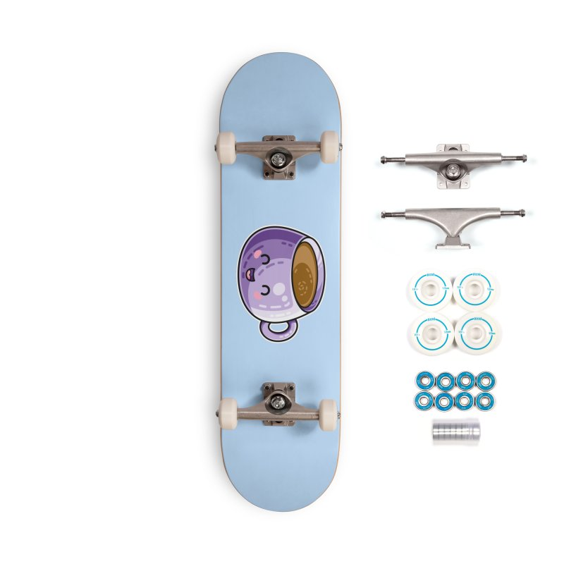 Kawaii Cute Coffee Accessories Complete - Basic Skateboard by Flaming Imp's Artist Shop