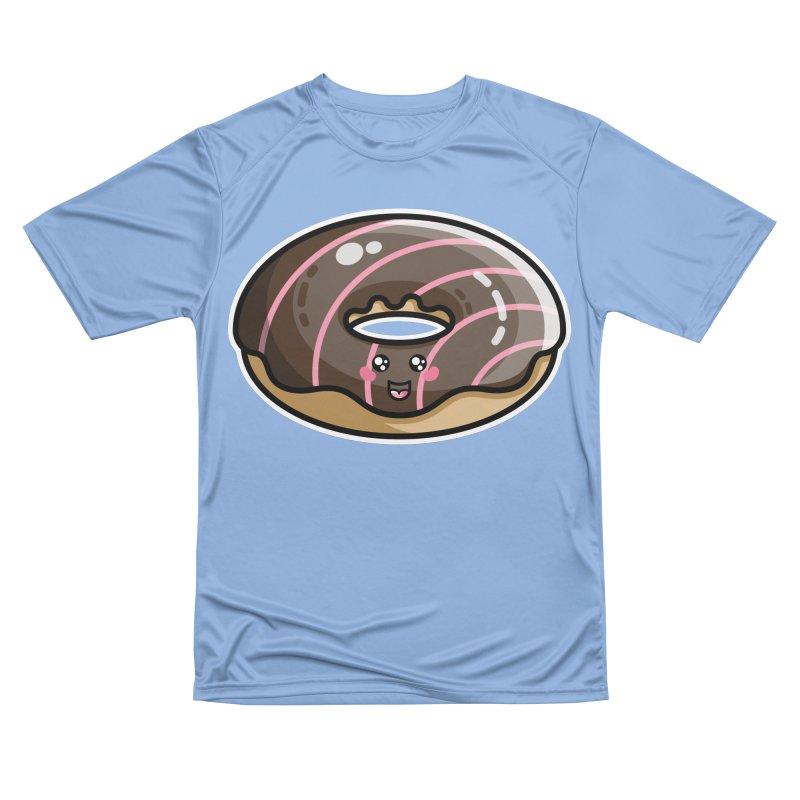 Kawaii Cute Chocolate Donut Women's T-Shirt by Flaming Imp's Artist Shop