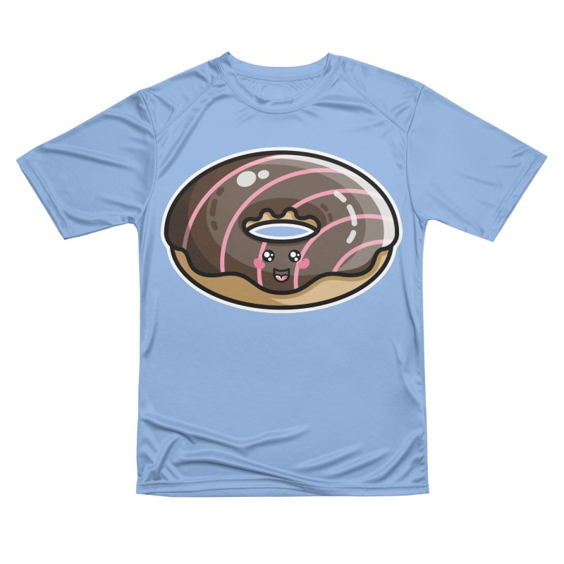 Kawaii Cute Chocolate Donut Men's T-Shirt by Flaming Imp's Artist Shop