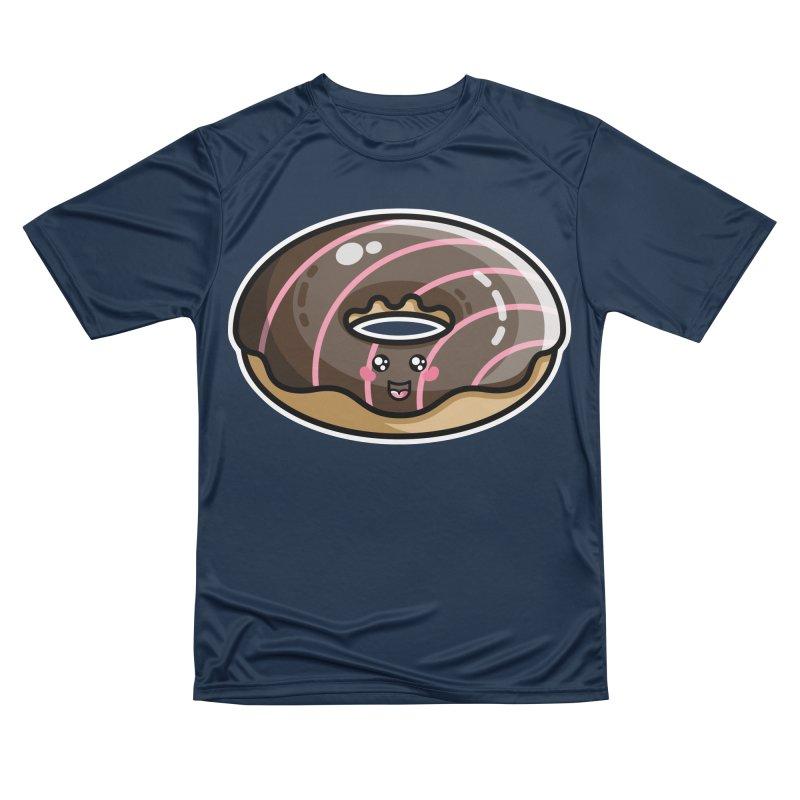 Kawaii Cute Chocolate Donut Men's Performance T-Shirt by Flaming Imp's Artist Shop