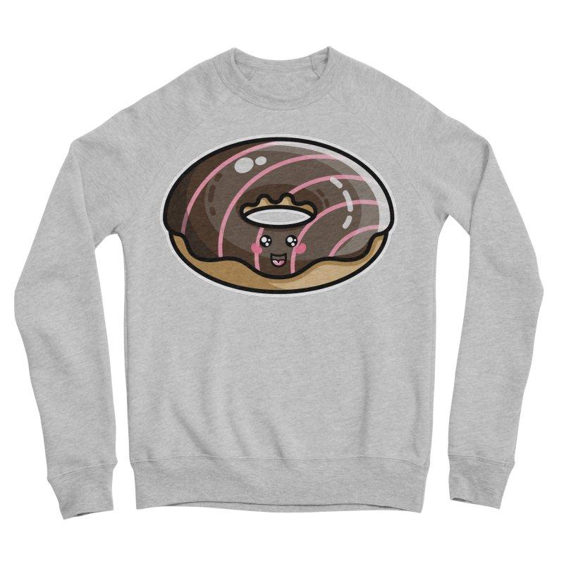 Kawaii Cute Chocolate Donut Men's Sponge Fleece Sweatshirt by Flaming Imp's Artist Shop