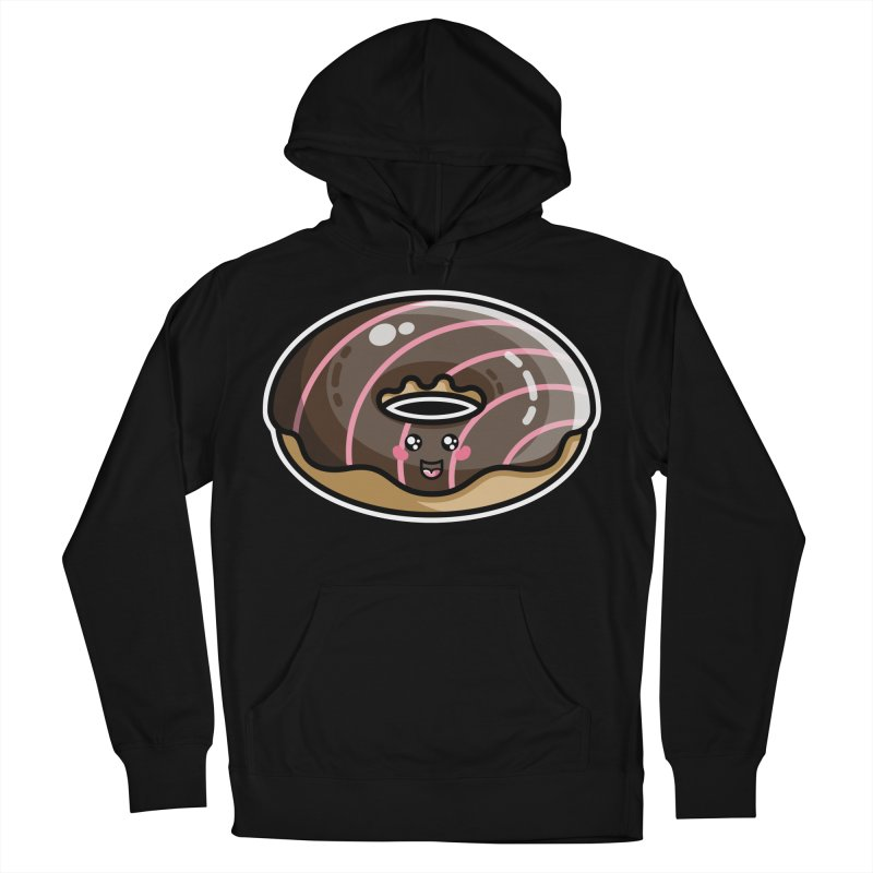 Kawaii Cute Chocolate Donut Women's French Terry Pullover Hoody by Flaming Imp's Artist Shop