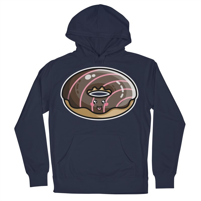 Kawaii Cute Chocolate Donut Men's Pullover Hoody by Flaming Imp's Artist Shop