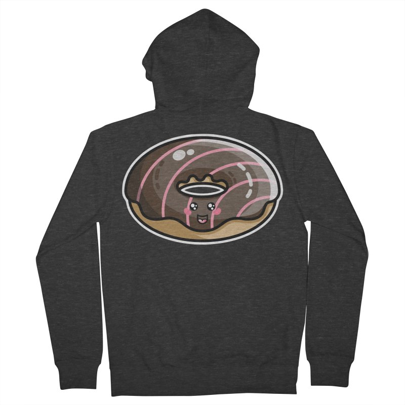 Kawaii Cute Chocolate Donut Women's French Terry Zip-Up Hoody by Flaming Imp's Artist Shop