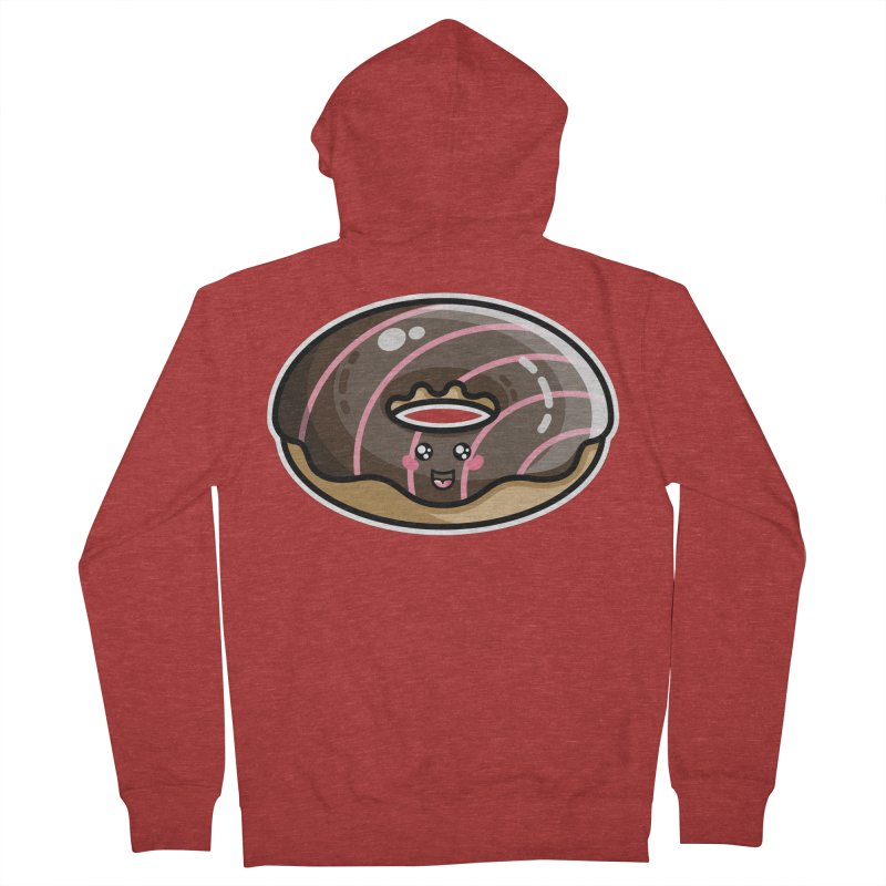 Kawaii Cute Chocolate Donut Men's French Terry Zip-Up Hoody by Flaming Imp's Artist Shop