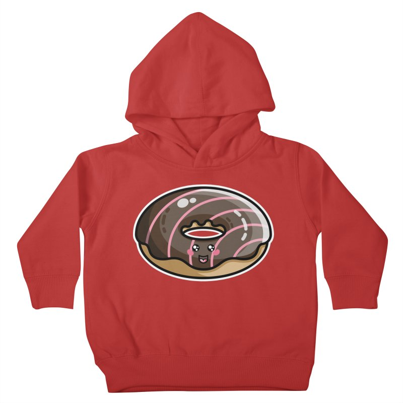 Kawaii Cute Chocolate Donut Kids Toddler Pullover Hoody by Flaming Imp's Artist Shop