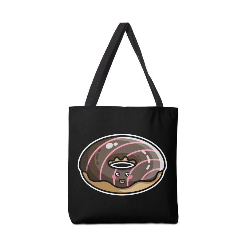 Kawaii Cute Chocolate Donut Accessories Tote Bag Bag by Flaming Imp's Artist Shop
