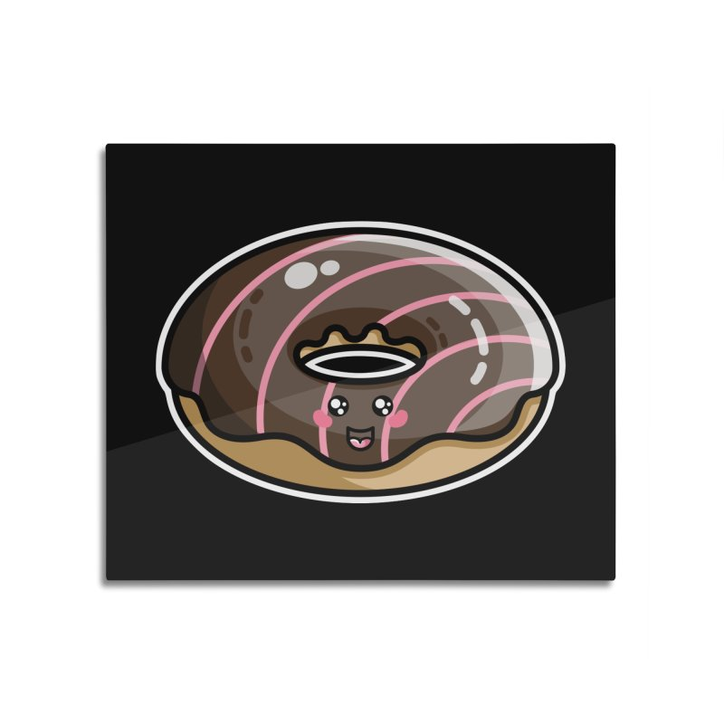 Kawaii Cute Chocolate Donut Home Mounted Acrylic Print by Flaming Imp's Artist Shop