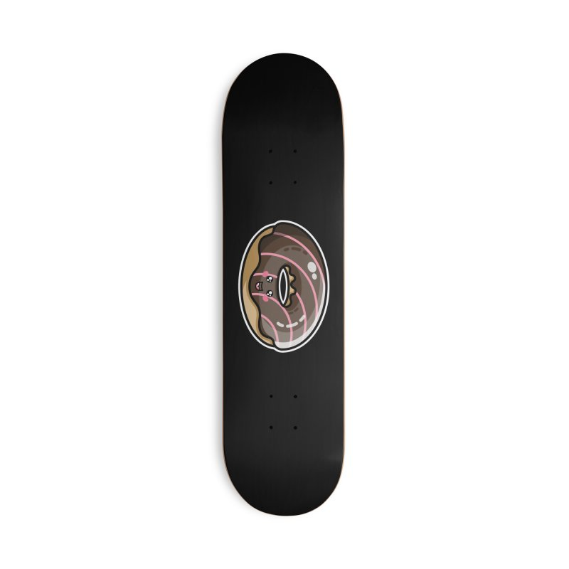 Kawaii Cute Chocolate Donut Accessories Deck Only Skateboard by Flaming Imp's Artist Shop
