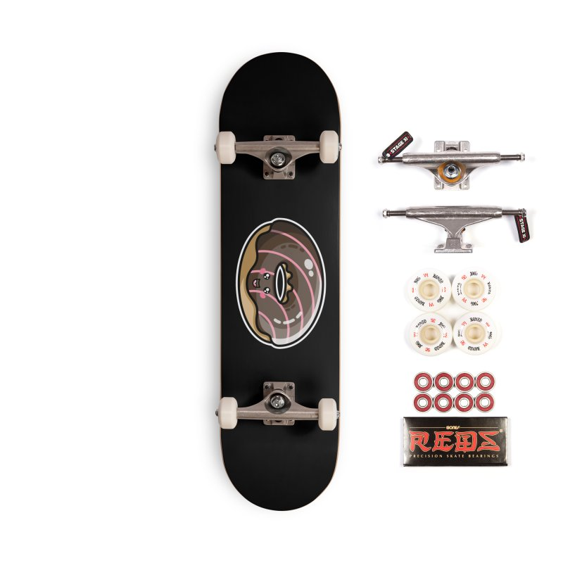 Kawaii Cute Chocolate Donut Accessories Complete - Pro Skateboard by Flaming Imp's Artist Shop
