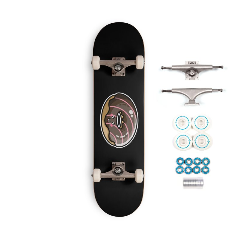 Kawaii Cute Chocolate Donut Accessories Complete - Basic Skateboard by Flaming Imp's Artist Shop