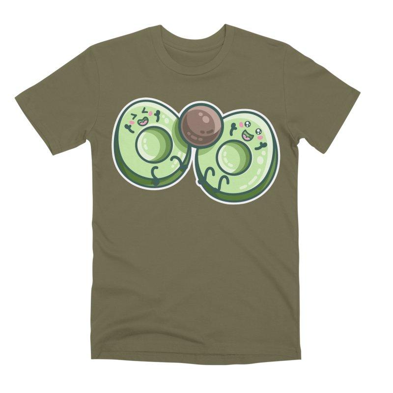 Kawaii Cute Avocados Playing Men's Premium T-Shirt by Flaming Imp's Artist Shop