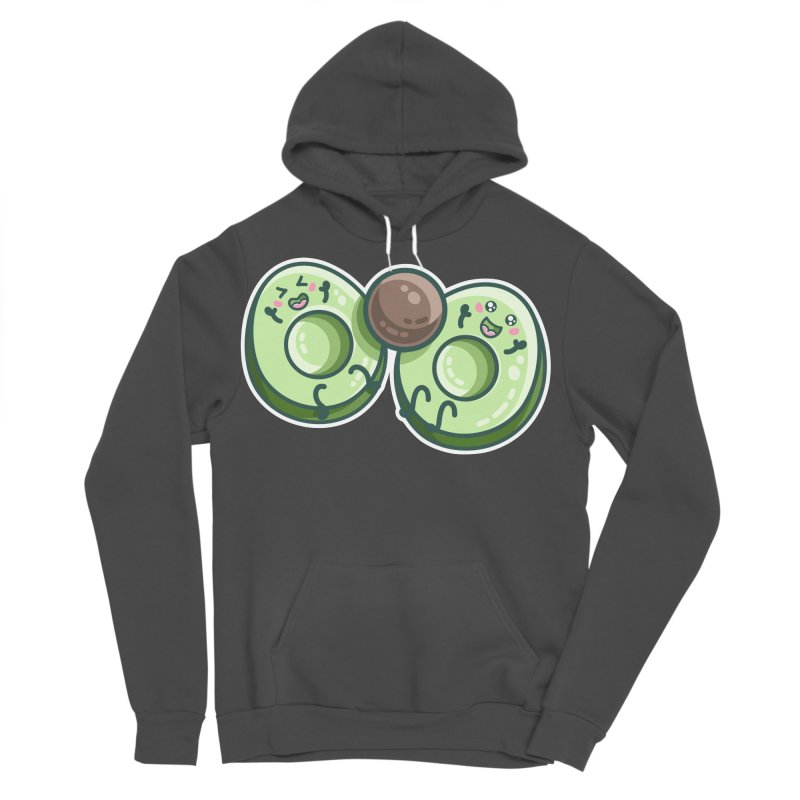 Kawaii Cute Avocados Playing Men's Sponge Fleece Pullover Hoody by Flaming Imp's Artist Shop
