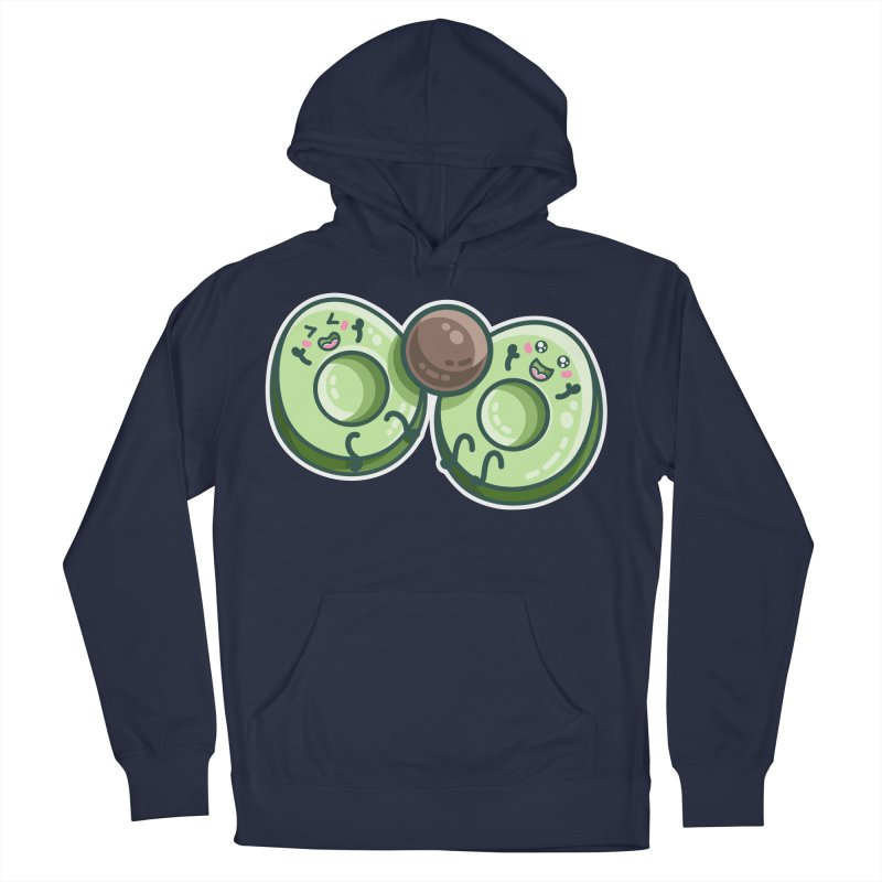 Kawaii Cute Avocados Playing Men's Pullover Hoody by Flaming Imp's Artist Shop