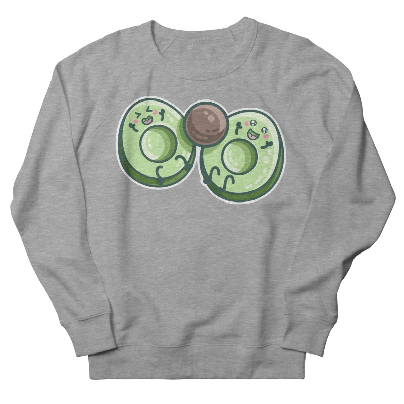 Kawaii Cute Avocados Playing Women's French Terry Sweatshirt by Flaming Imp's Artist Shop