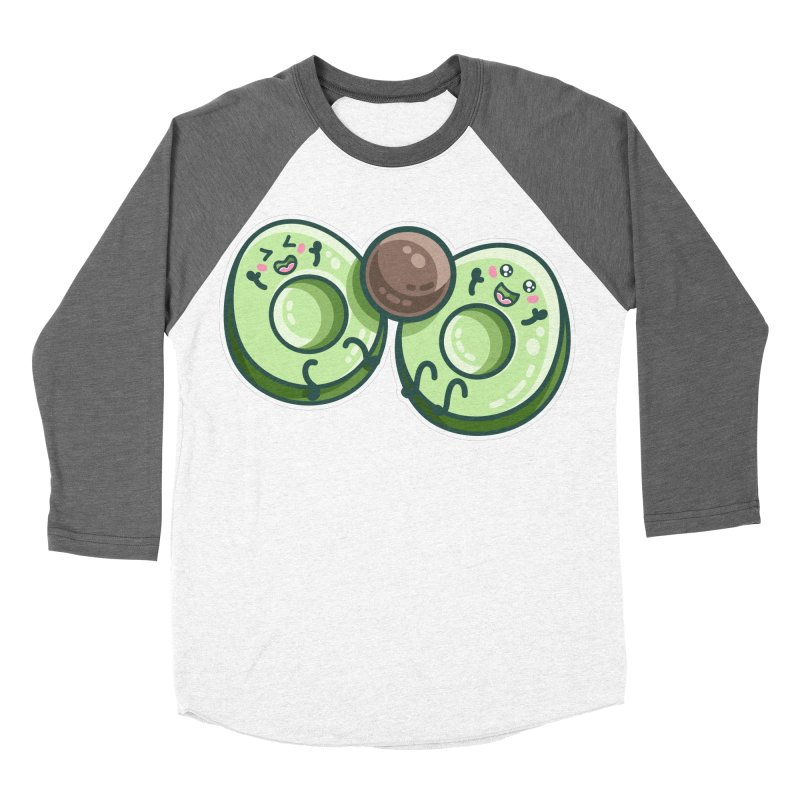 Kawaii Cute Avocados Playing Women's Longsleeve T-Shirt by Flaming Imp's Artist Shop