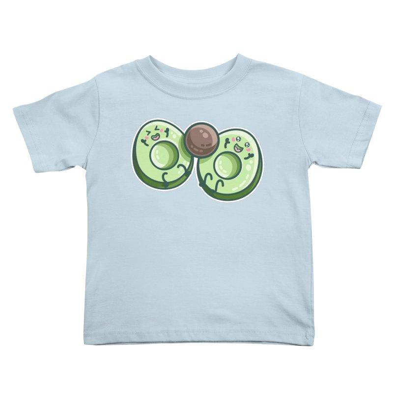 Kawaii Cute Avocados Playing Kids Toddler T-Shirt by Flaming Imp's Artist Shop