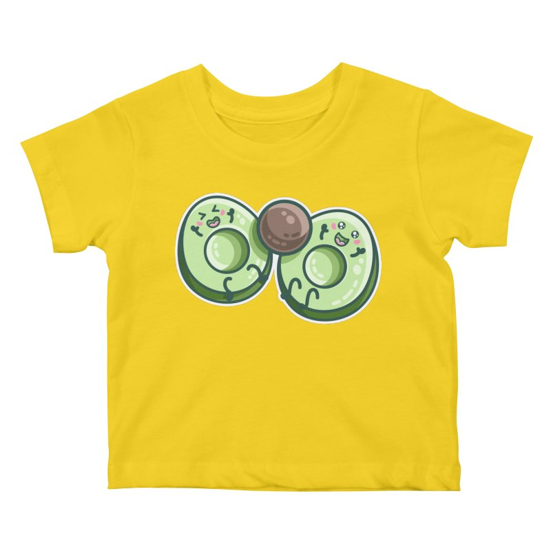 Kawaii Cute Avocados Playing Kids Baby T-Shirt by Flaming Imp's Artist Shop